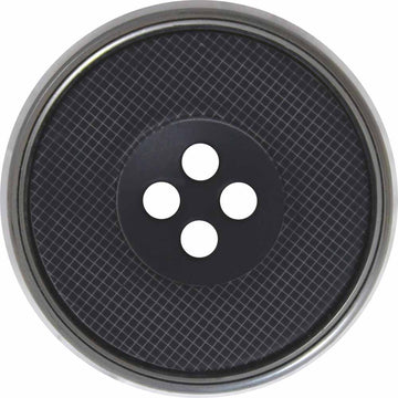 Elan - Buttons - 25mm - Black/Sliver