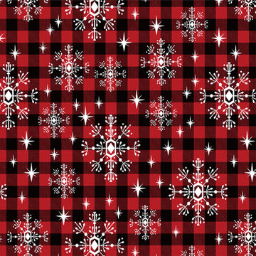 Flannel - Snowflake - Red