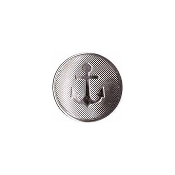 Elan - Buttons - 20mm - Silver Anchors