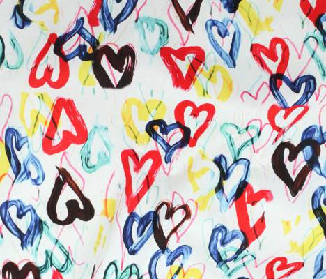 Cotton - Playtime - Lawn - Digital Print - Hearts