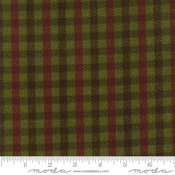 Moda - Cotton - Flannel - Green Plaid