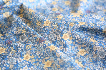 Cotton - Playtime - Floral Print - Blue