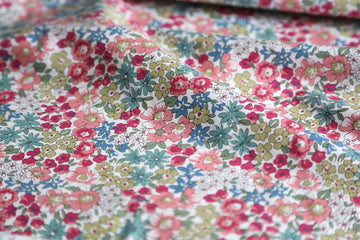 Cotton - Playtime - Floral Print - Pink