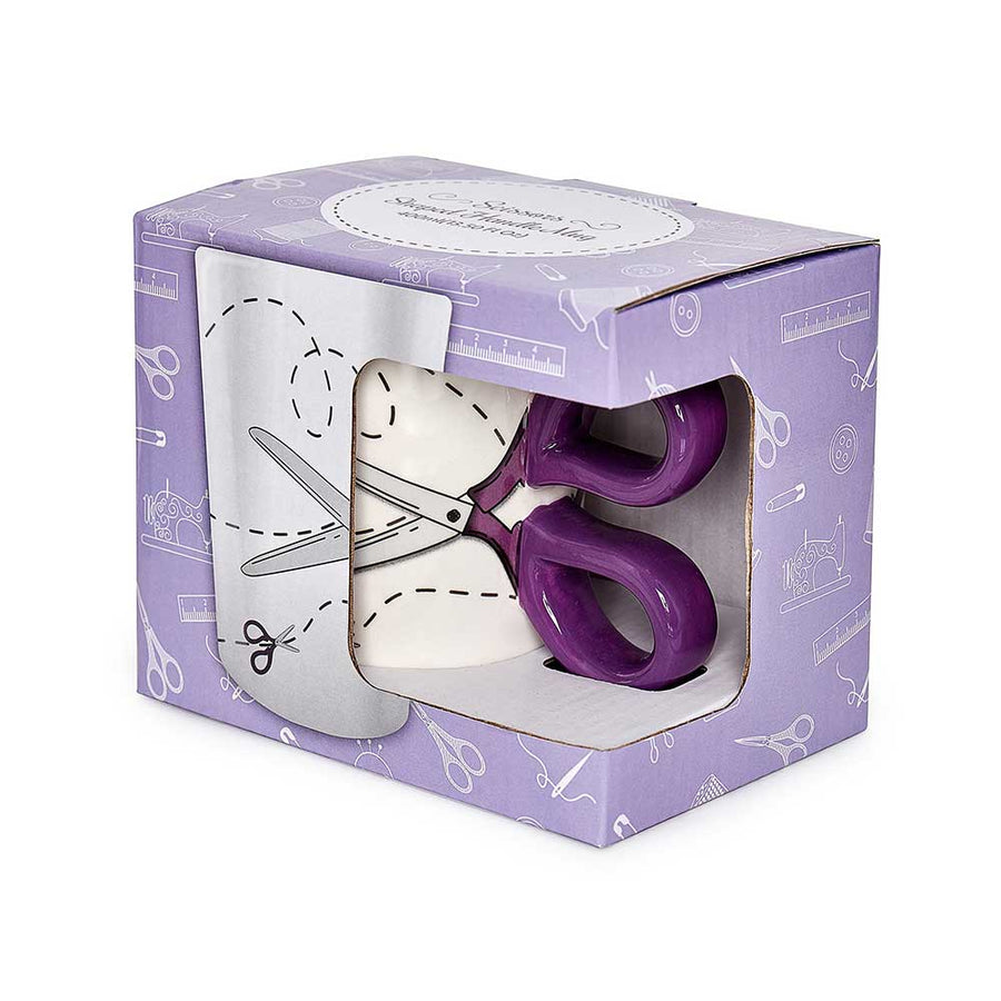 SEW TASTY - Scissors Mug - Purple