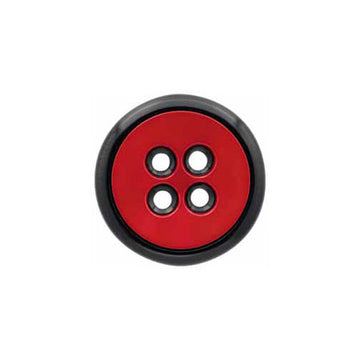 Elan - Buttons - 20mm - Red/Black