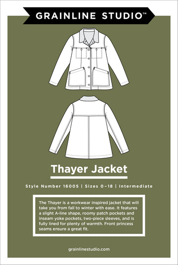 Grainline Studio - Thayer Jacket - Sizes 0-18