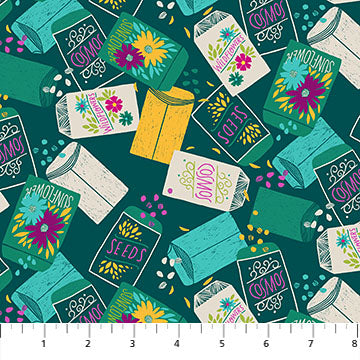 Figo - Cotton - Flora - Dark Green Seedpack