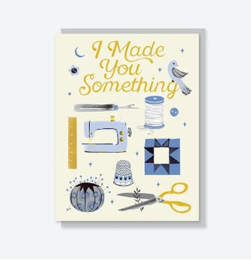 Crafted Moon - Greeting Card - Sewing Things