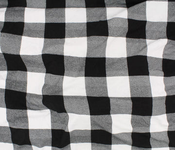 Bamboo - Jersey - Plaid - Black/White