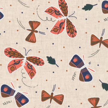 Cloud 9 - Cotton Linen - Canvas - Plant Peeps - Flutter