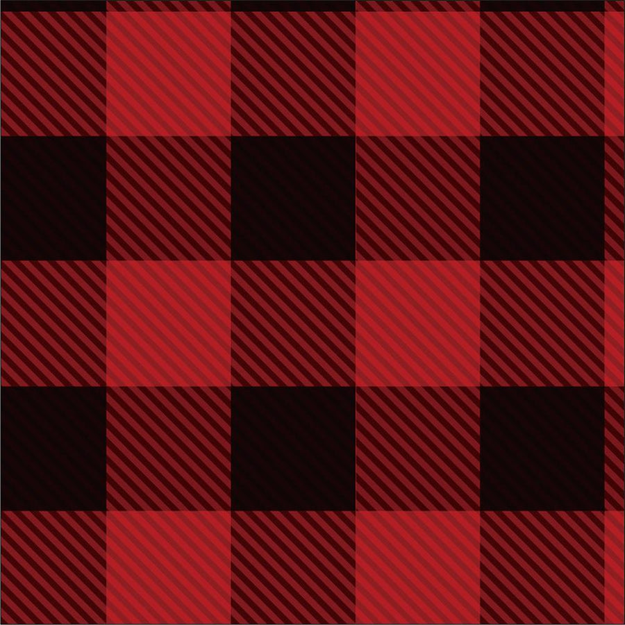 Cotton - Flannel - Plaid - Red Buffalo