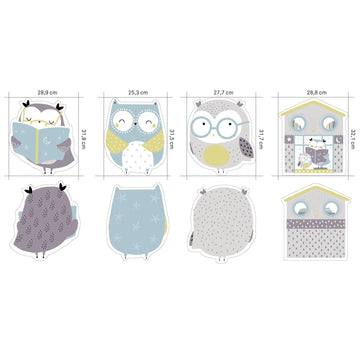 Katia - Cotton - Jersey Panel - Owls