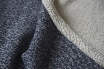 Cotton - Large Loop Terry - Heathered Navy