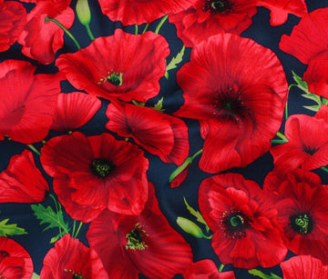 Cotton - Sateen Print - Poppies