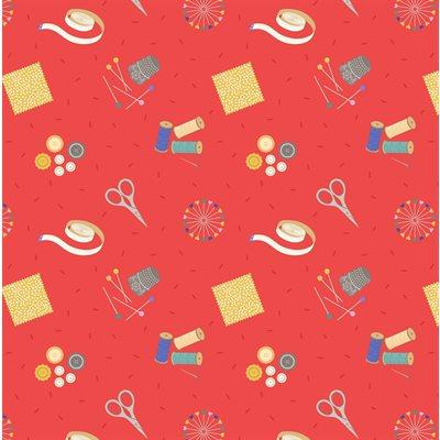 Cotton - Small Things Crafts - Red