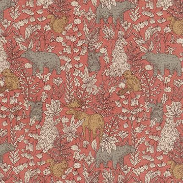 Cotton Flax - Canvas - Pink Forest