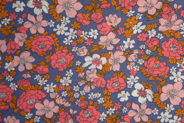 Ruby Star - Cotton Lawn - Lindley - Periwinkle