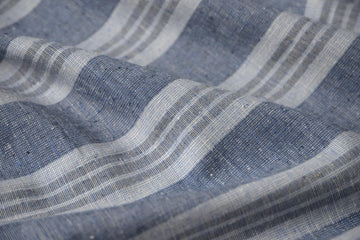 Hemp Organic Cotton - Yarn Dye Multi Stripe - Indigo