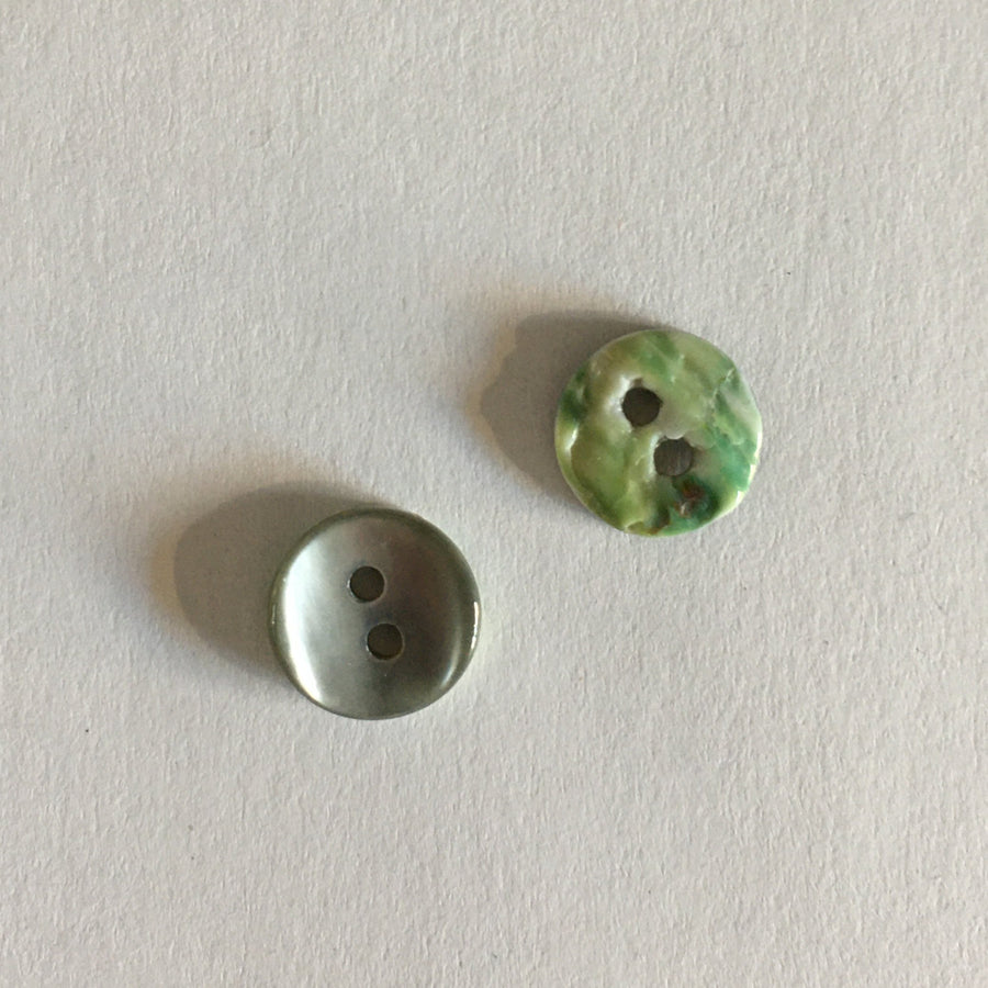 Buttons - 9mm - Grey Concave