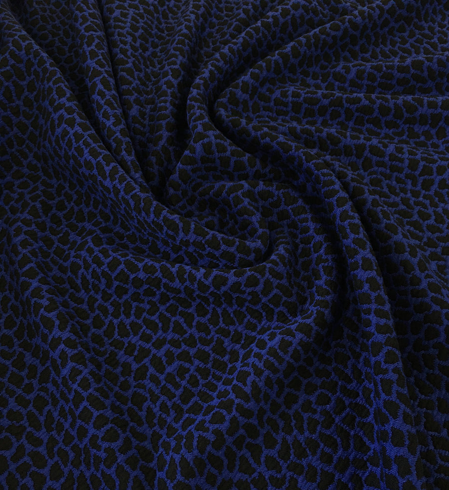 Poly Blend - Jacquard - Knit - Blue Black
