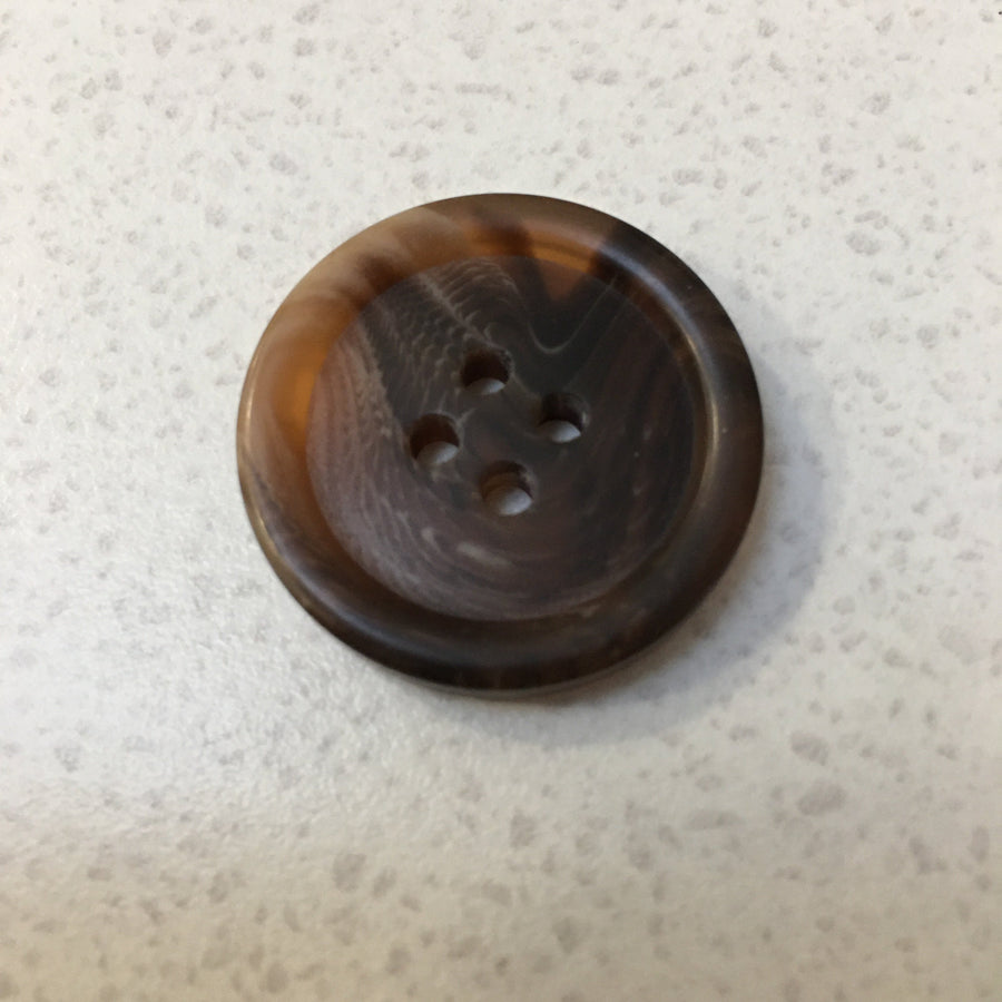 Resin 4 Hole Button - 25mm - Tortie