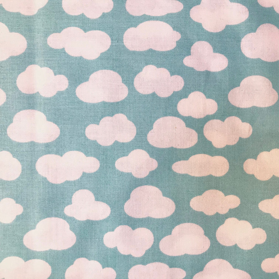 Cotton - Clouds - Turquoise