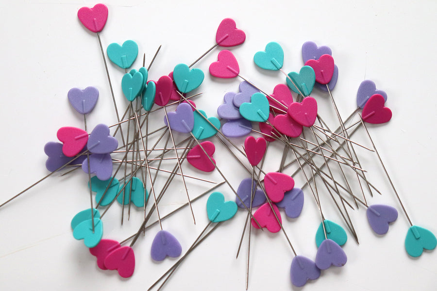Dritz - Heart Flat Head Pins - 50 pc
