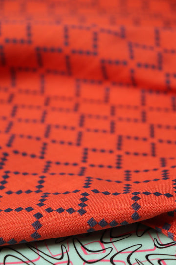 Ruby Star - Cotton - Warp & Weft Wovens - Persimmon