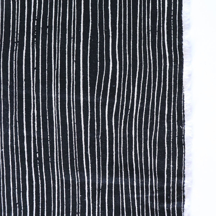 Figo - Cotton Linen - Harmony - Stripes - Black