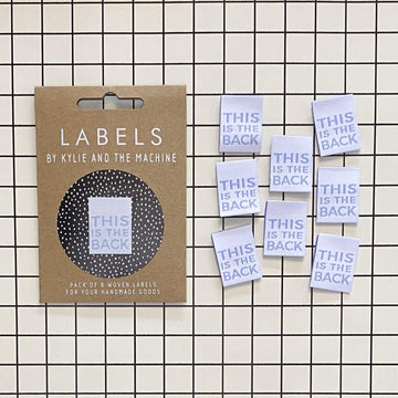 Kylie and the Machine - Sewing Label - This Is The Back