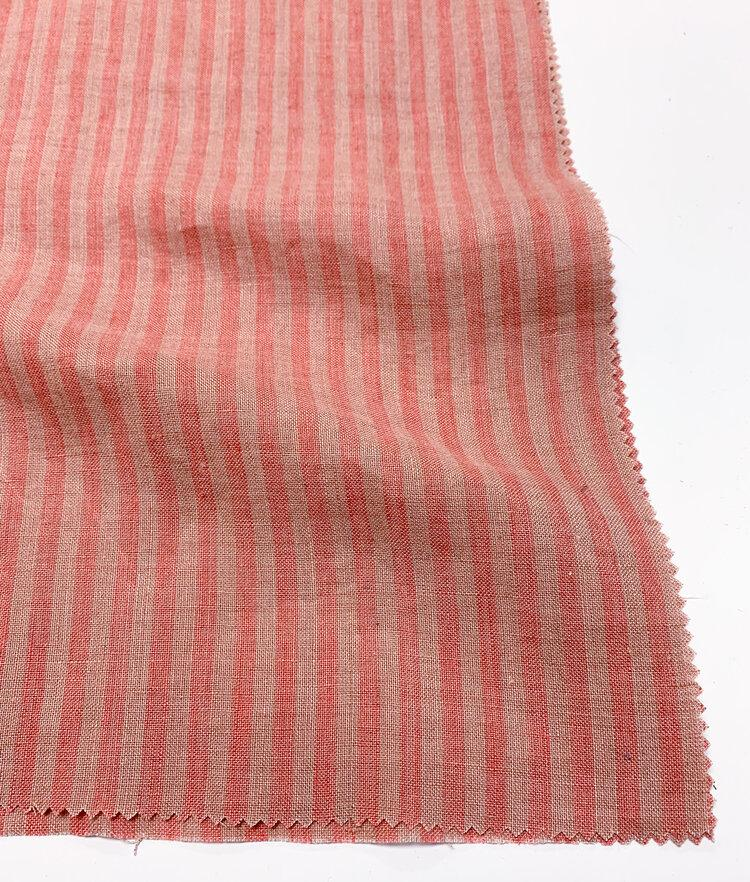Linen - Yarn Dye Stripe - Watermelon