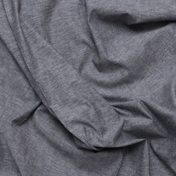 Organic Cotton Hemp - Chambray - Black