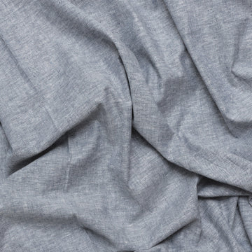 Organic Cotton Hemp - Chambray - Denim Blue