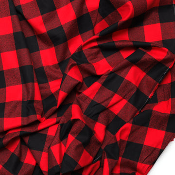 Cotton - Mammoth Flannel - Wide - Red Buffalo