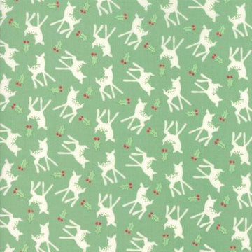 Moda - Cotton - Deer Christmas - Spearmint