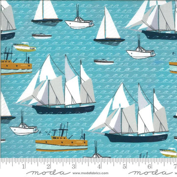 Moda - Cotton - Lakeside Story - Sailboats