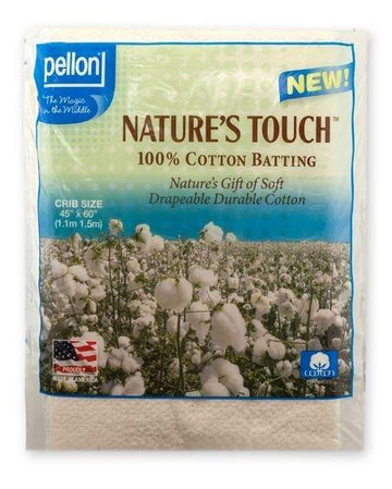 Pellon - Nature's Touch Natural Cotton Batting - Crib Size
