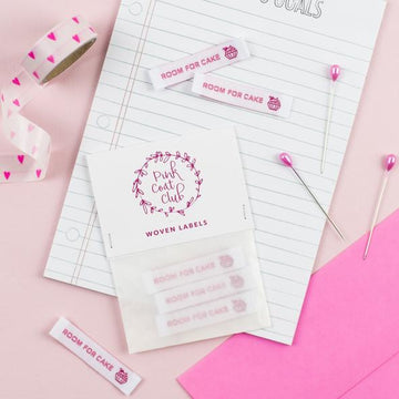 Pink Coat Club - Sewing Labels - Room for Cake