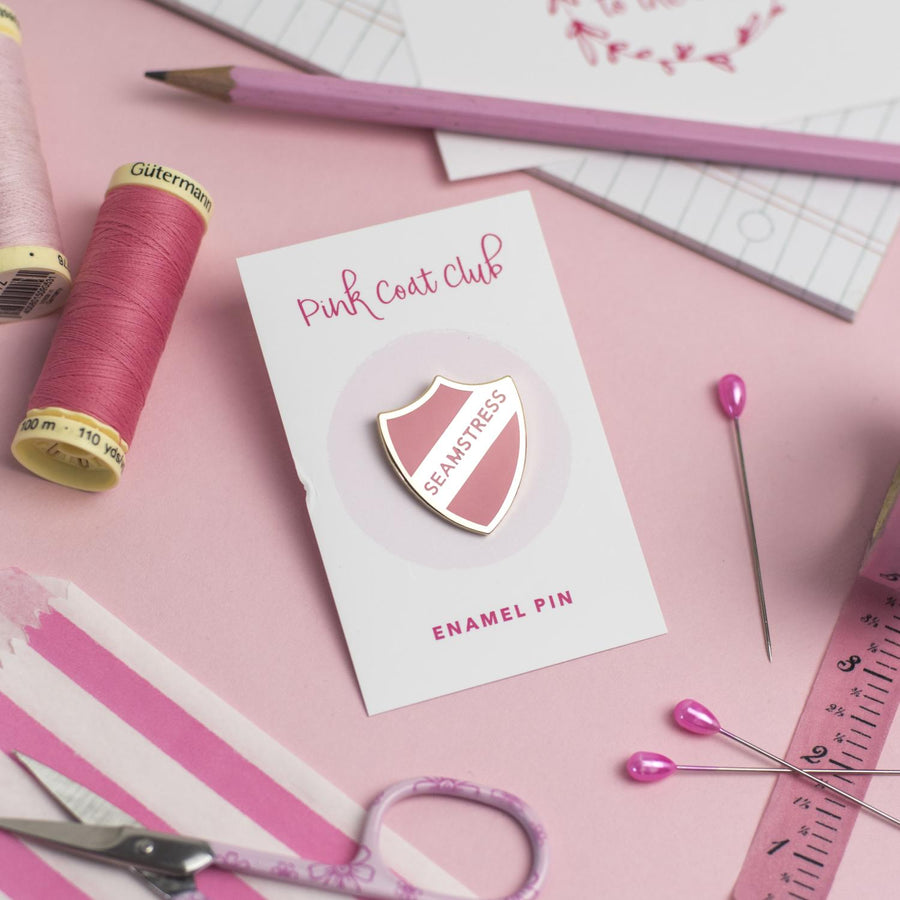 Pink Coat Club - Seamstress Pin - Pink