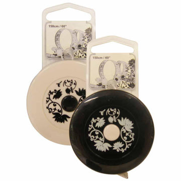 Retractable Tape Measure -  Black & Cream