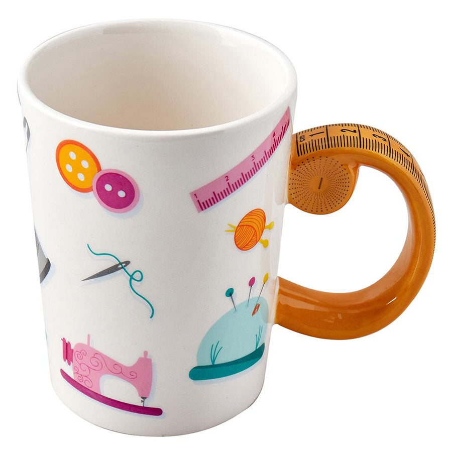 SEW TASTY - Tape Measure Mug - Orange