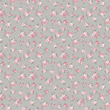 Stof - Cotton - Avalana - Jersey - Grey Pink Rose