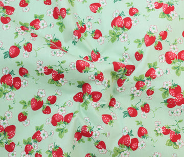 Cotton - Playtime - Fruit Print - Strawberry
