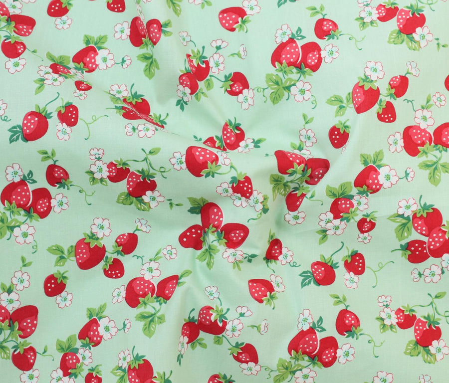 Cotton - Fruit Print - Strawberry