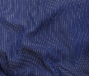 Rayon - Demin - Dark Blue Stripe