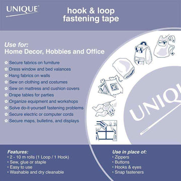 UNIQUE - Hook & Loop Tape - Sew-On - 25mm