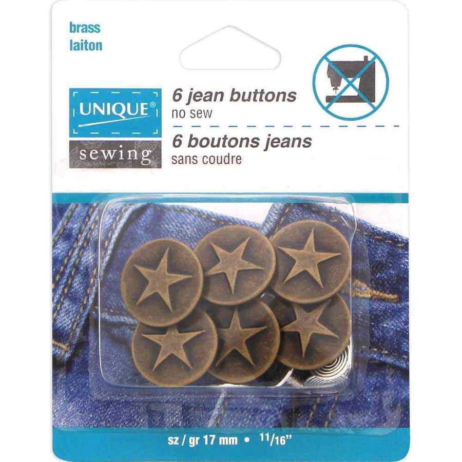 UNIQUE - Jean Buttons - No Sewing