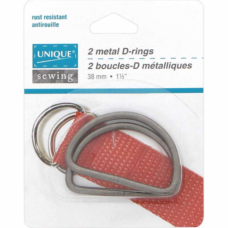 UNIQUE - Metal D-Rings - 38mm