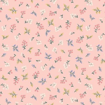Rifle Paper Co - Cotton - Strawberry Fields - Petite Fleurs - Blush