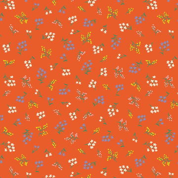 Rifle Paper Co - Cotton - Strawberry Fields - Petite Fleurs - Rifle Red